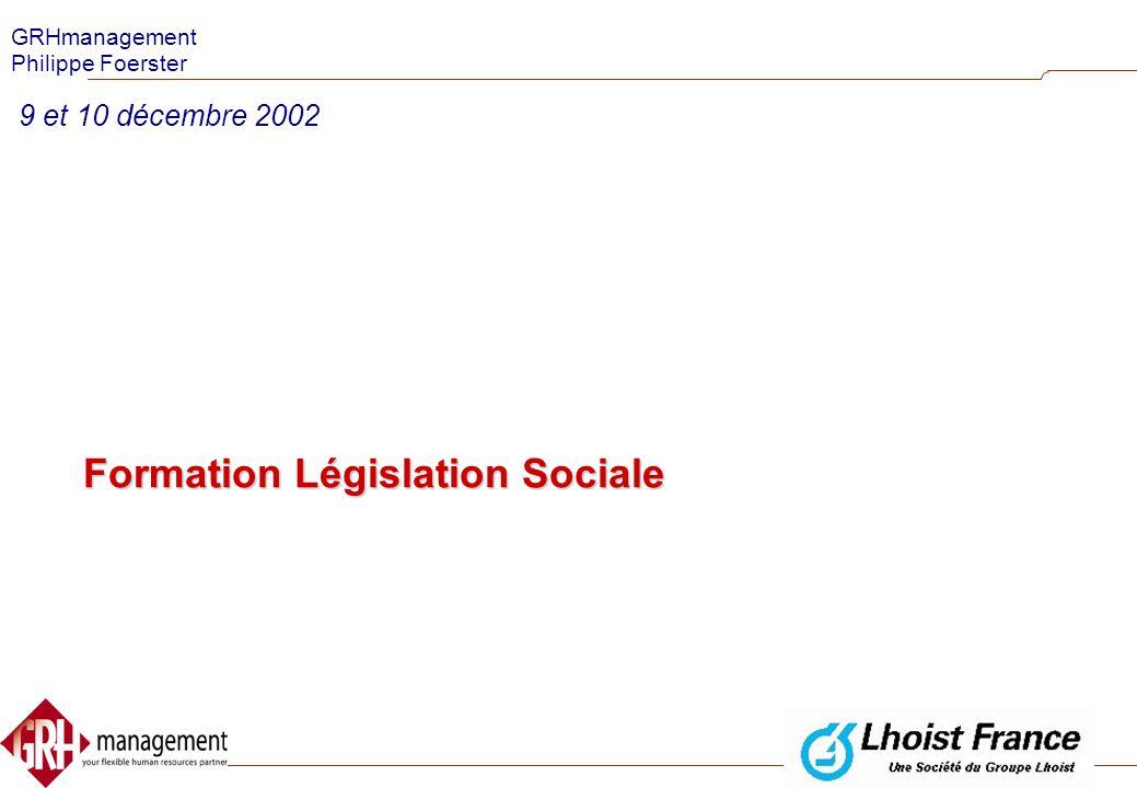 Formation Législation Sociale