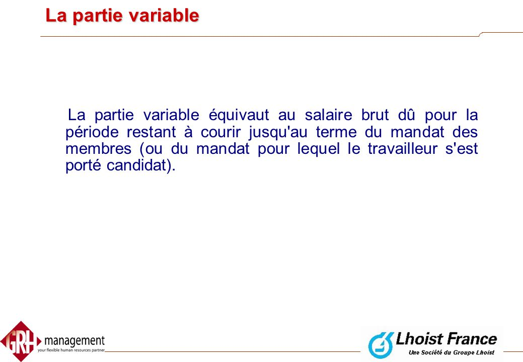 La partie variable