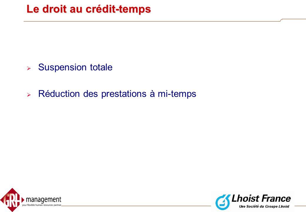 Le droit au crédit-temps