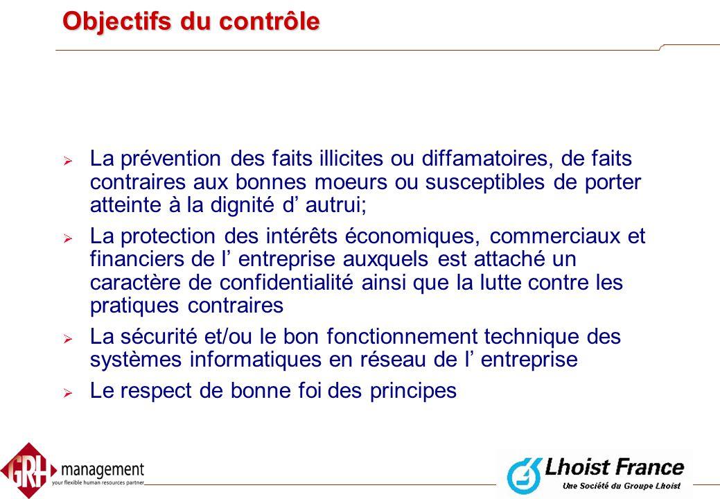 Objectifs du contrôle