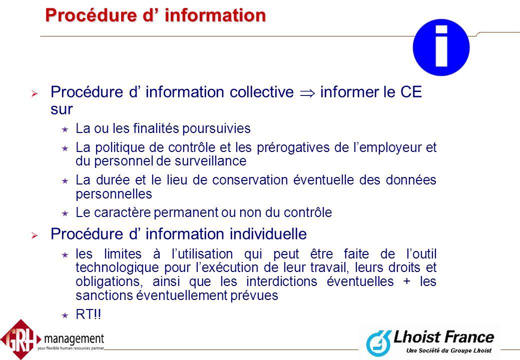Procédure d' information
