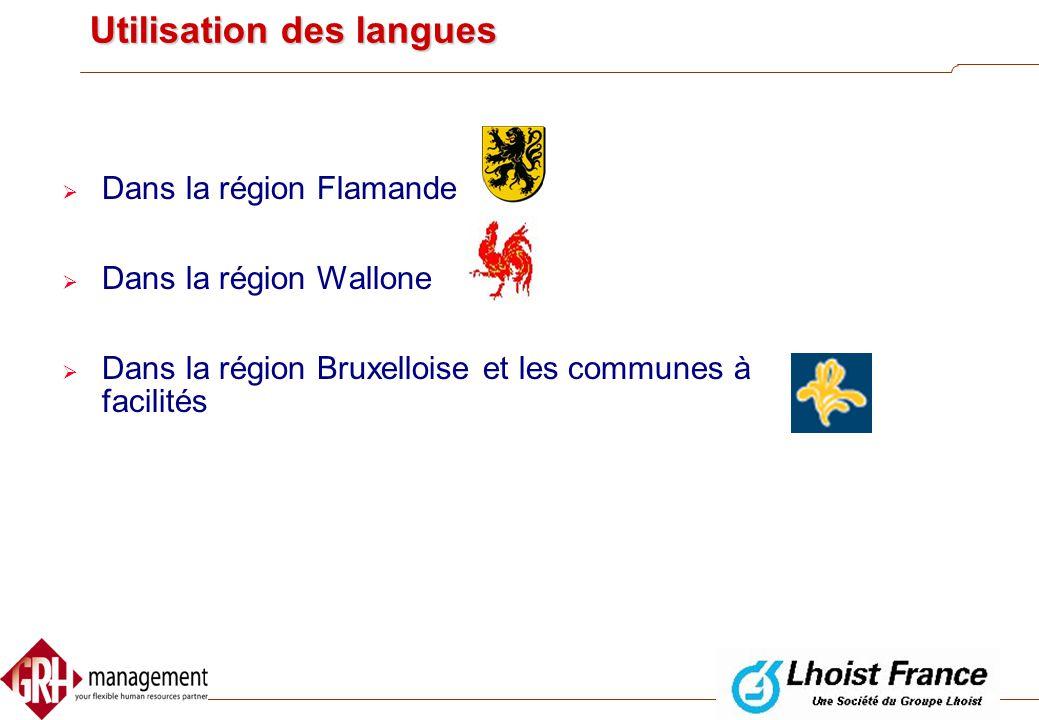 Utilisation des langues