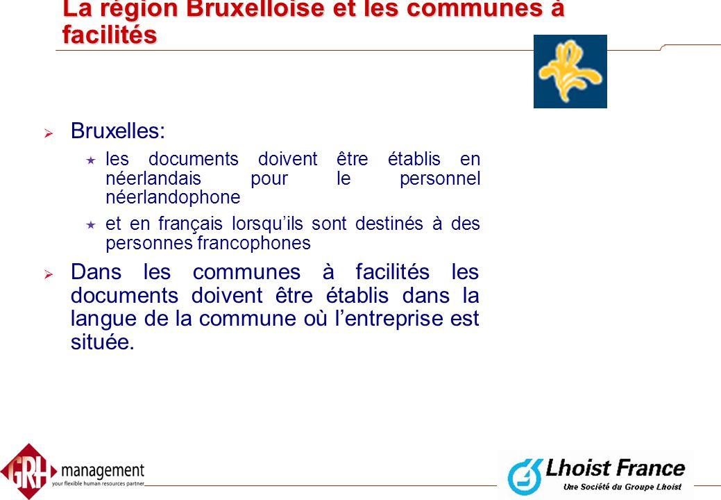La région Bruxelloise et les communes à facilités