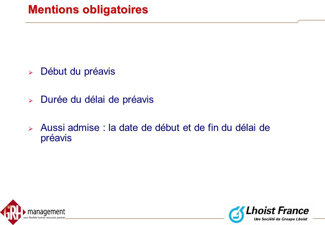 Mentions obligatoires