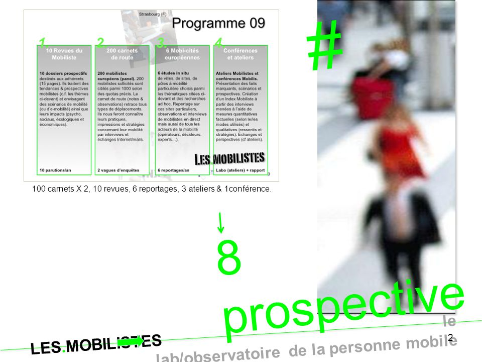 # 8 prospectives Points de vue Mobilistes … exclusivement