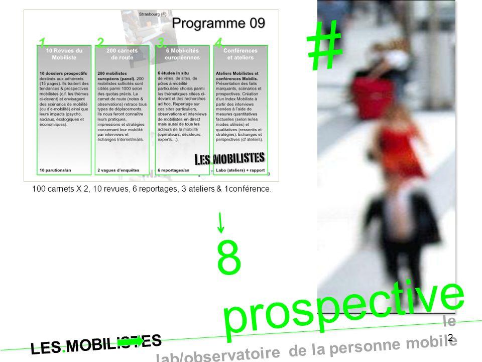 # 8 prospectives Points de vue Mobilistes … exclusivement