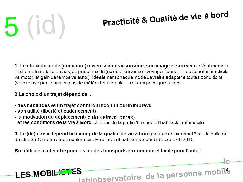 5 (id) Practicité & Qualité de vie à bord