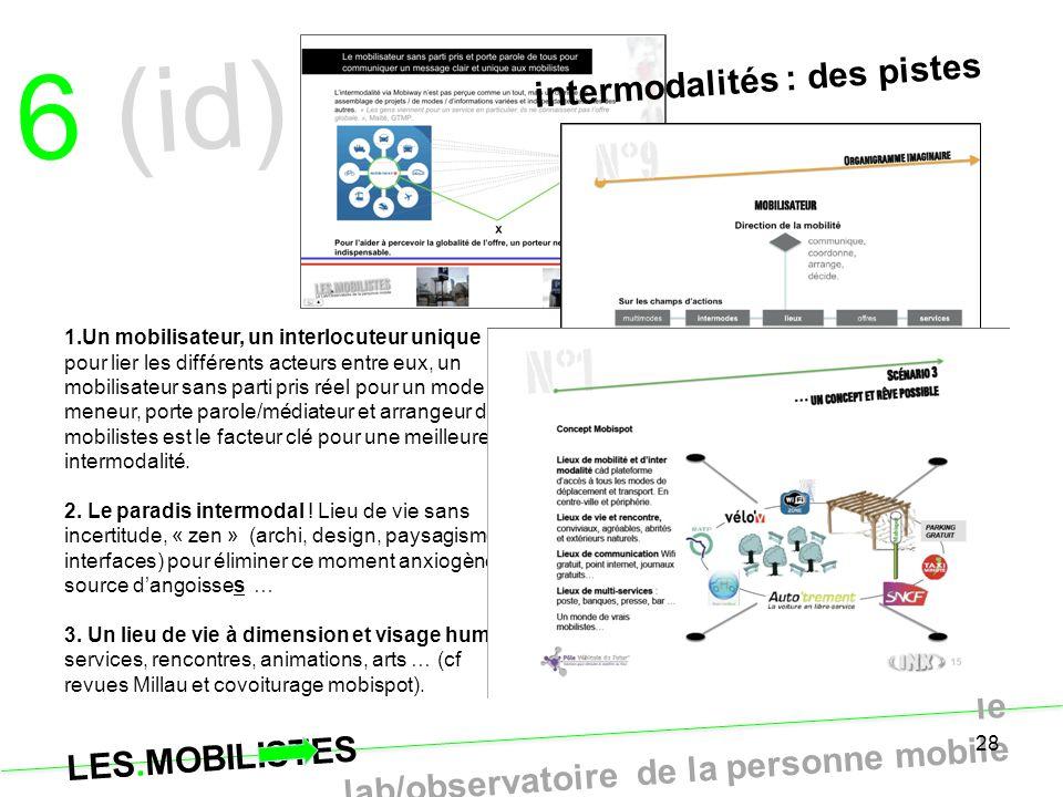 6 (id) intermodalités : des pistes