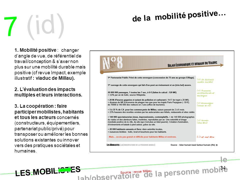 7 (id) de la mobilité positive…