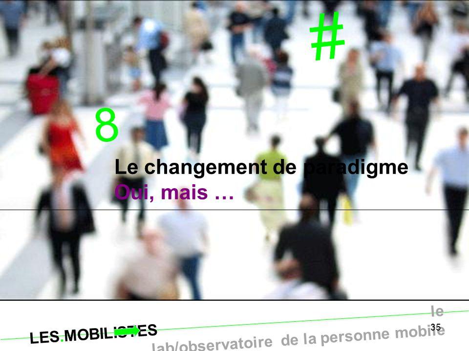 # 8 Le changement de paradigme Oui, mais … 35 35