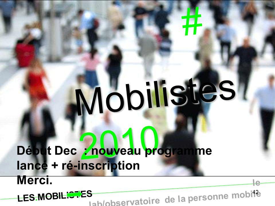 # Mobilistes2010 Fin provisoire …