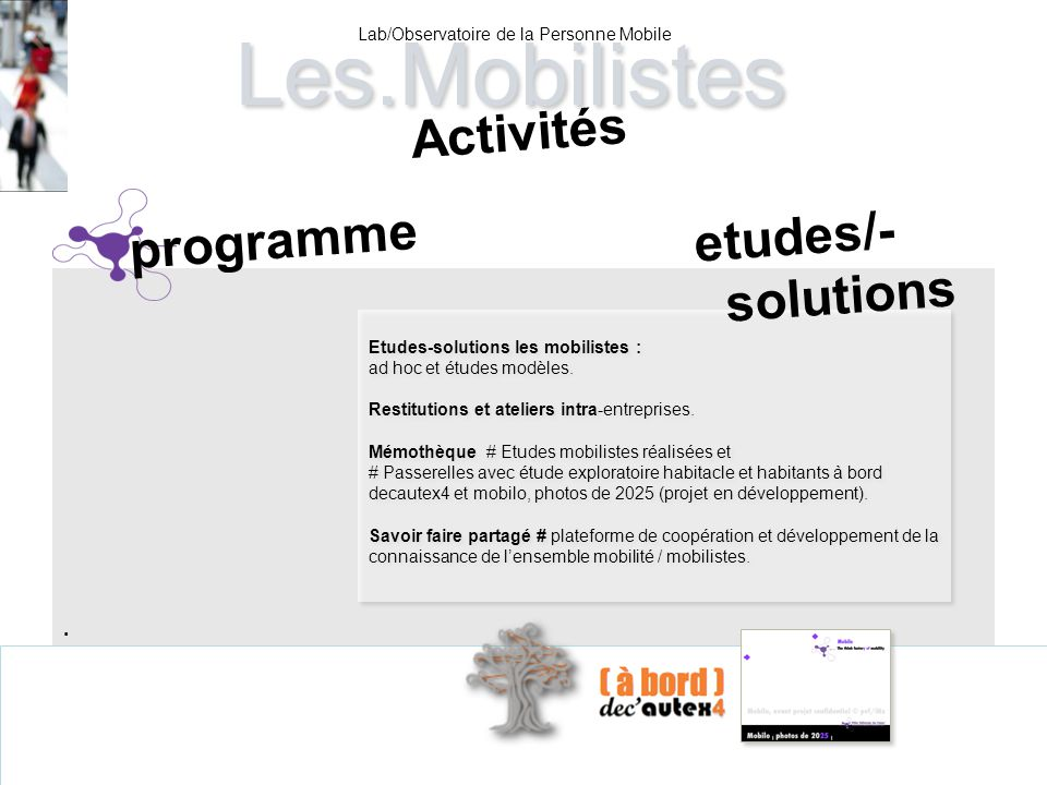 Lab/Observatoire de la Personne Mobile