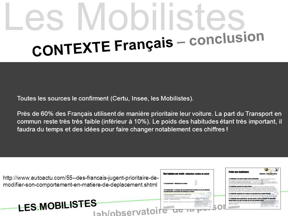 CONTEXTE Français – conclusion