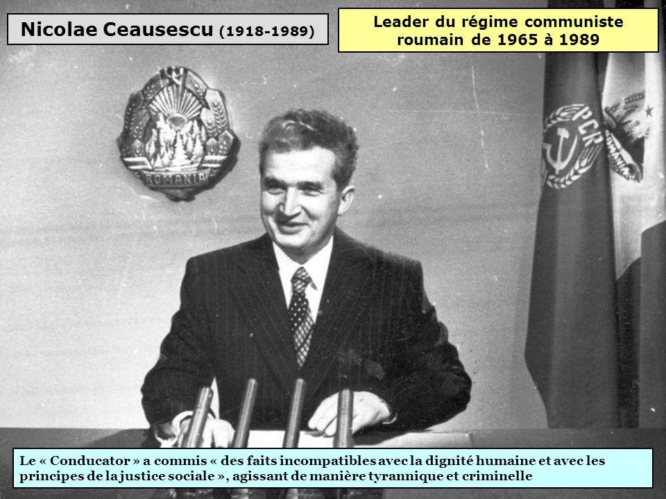 Leader du régime communiste roumain de 1965 à 1989