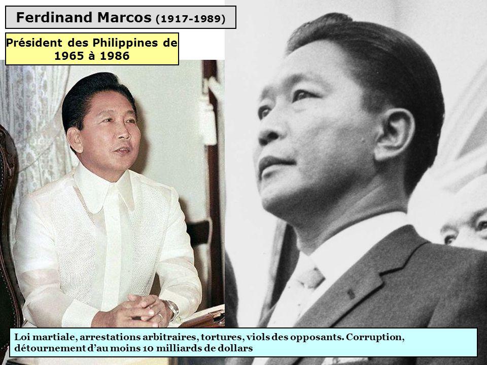 Président des Philippines de 1965 à 1986