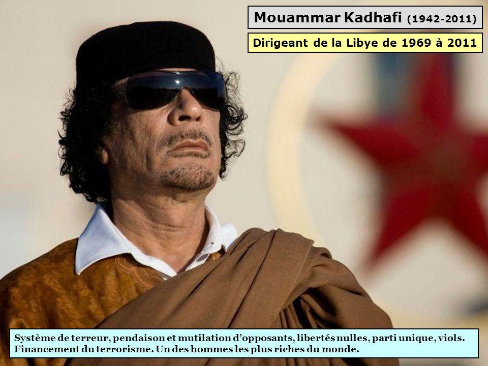 Dirigeant de la Libye de 1969 à 2011