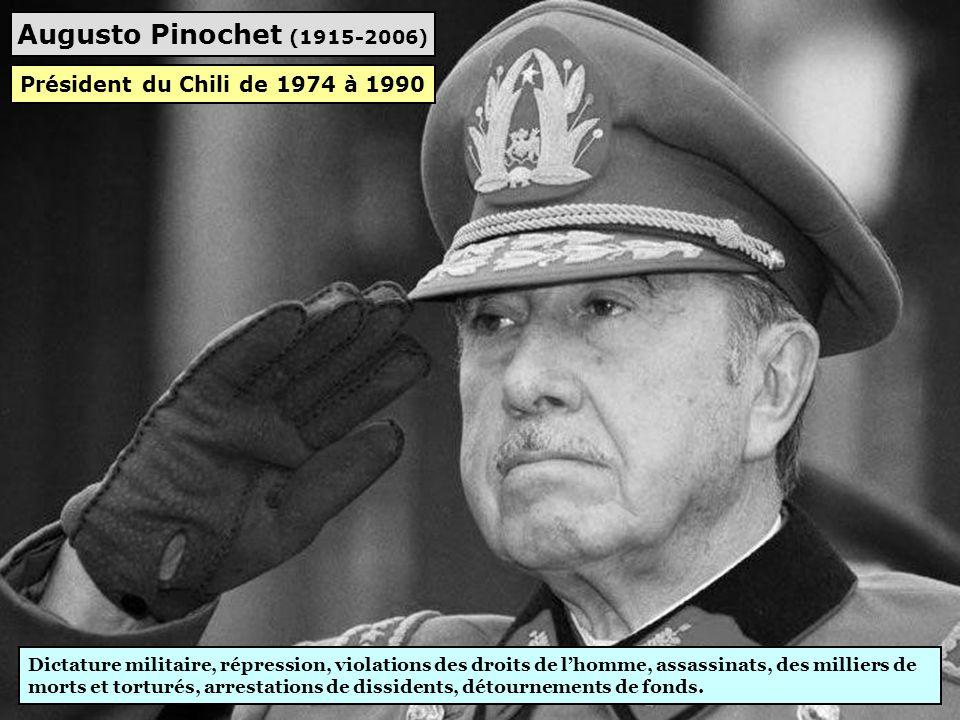Augusto Pinochet (1915-2006) Président du Chili de 1974 à 1990