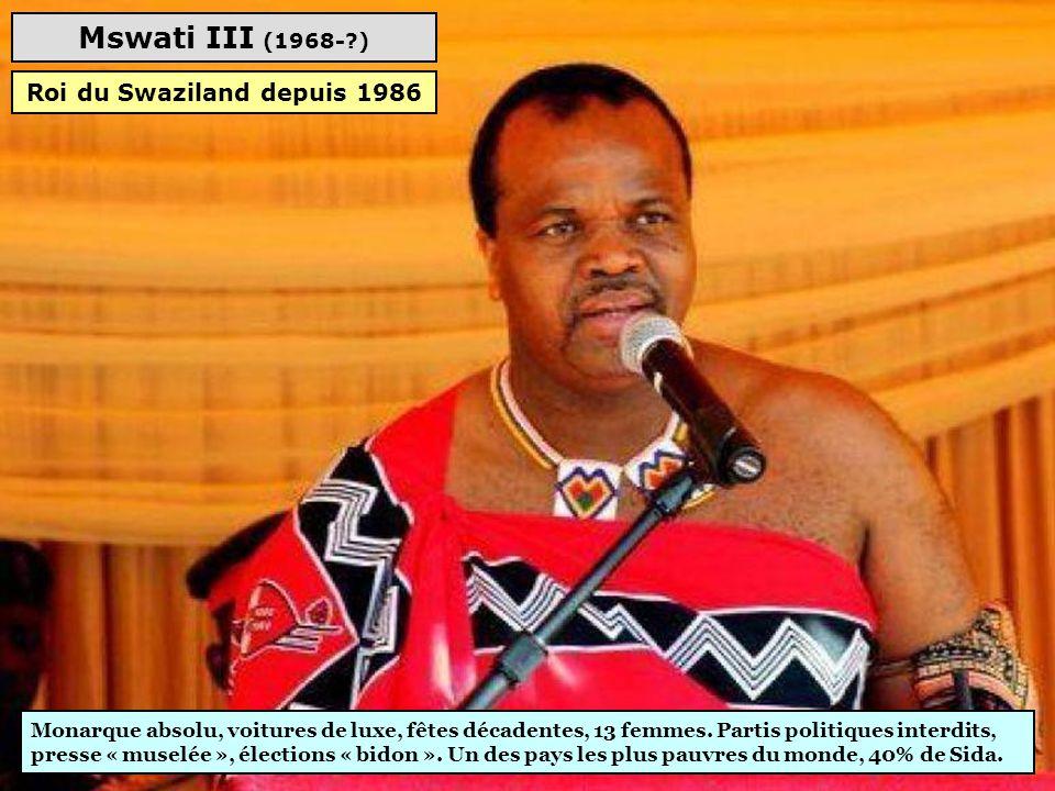 Roi du Swaziland depuis 1986