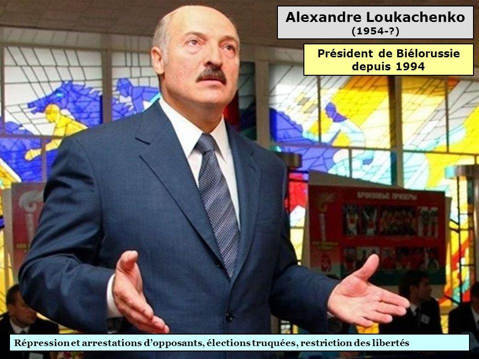 Alexandre Loukachenko (1954- ) Président de Biélorussie depuis 1994