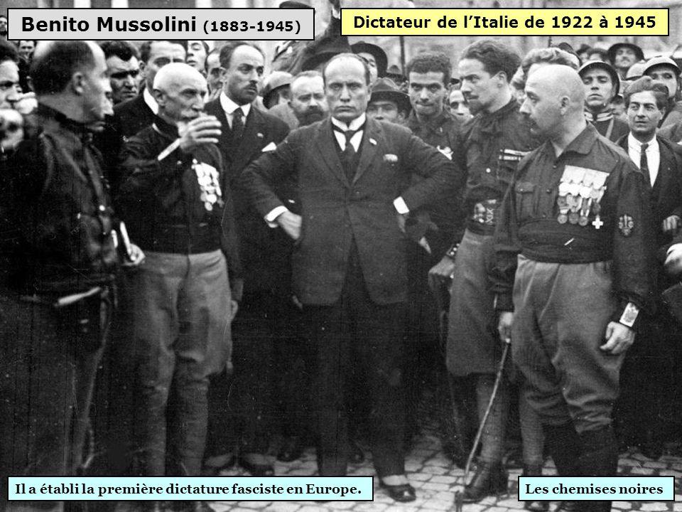 Dictateur de l'Italie de 1922 à 1945