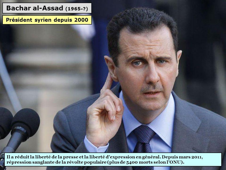Président syrien depuis 2000