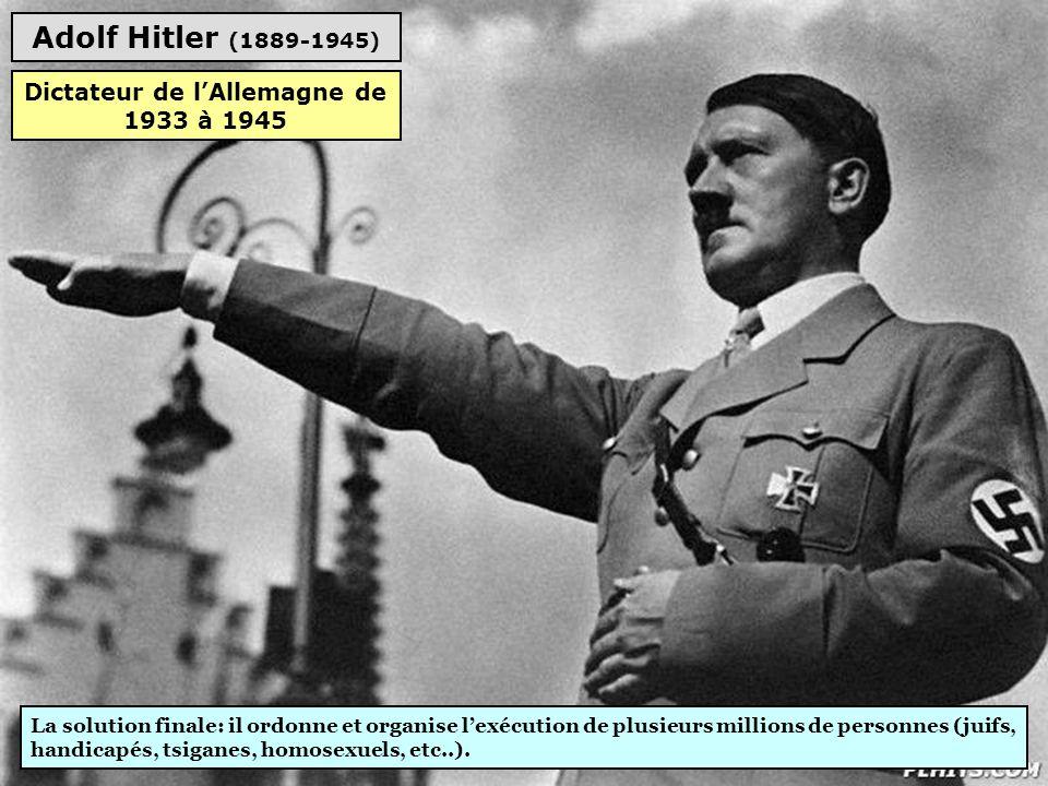 Dictateur de l'Allemagne de 1933 à 1945