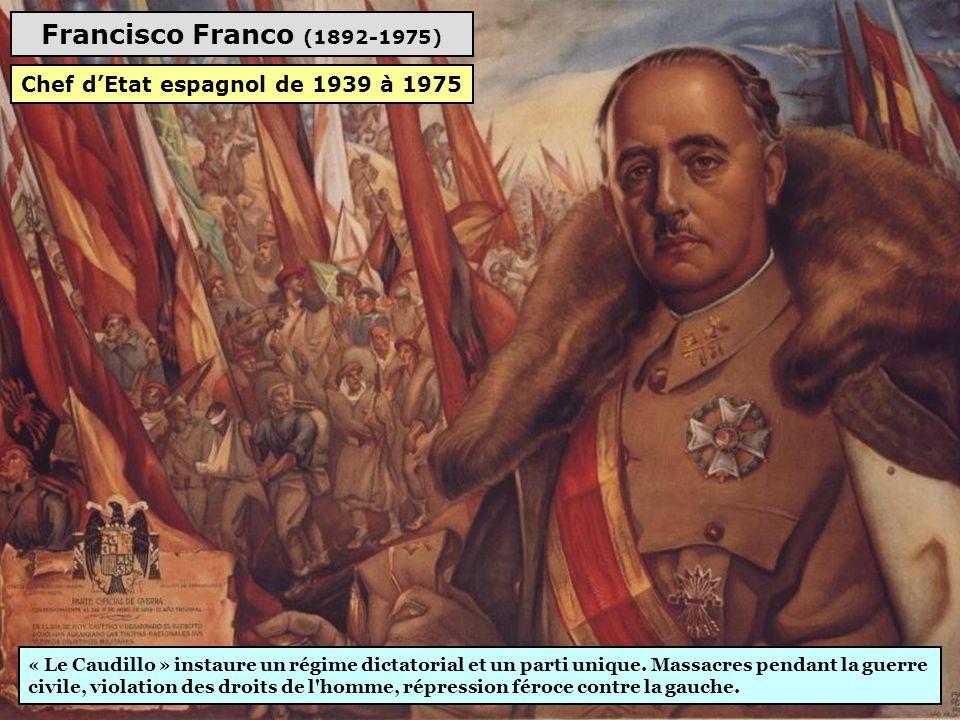 Chef d'Etat espagnol de 1939 à 1975
