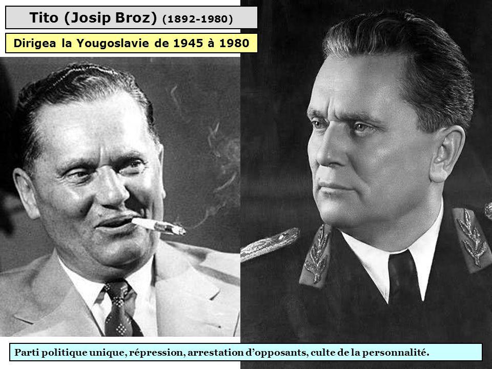 Dirigea la Yougoslavie de 1945 à 1980