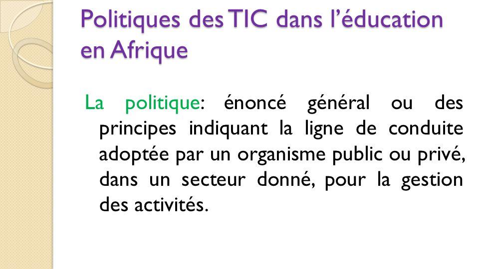 Politiques des TIC dans l'éducation en Afrique