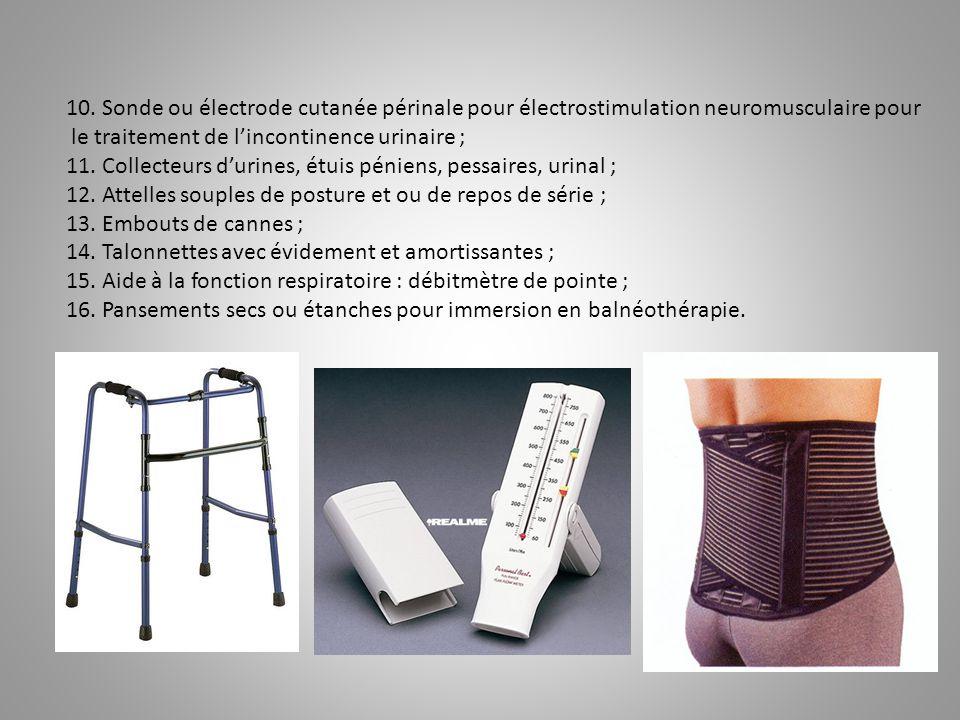 10. Sonde ou électrode cutanée périnale pour électrostimulation neuromusculaire pour
