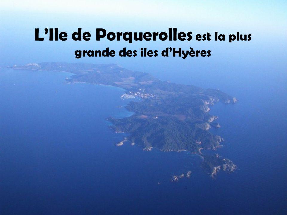 L'Ile de Porquerolles est la plus grande des iles d'Hyères