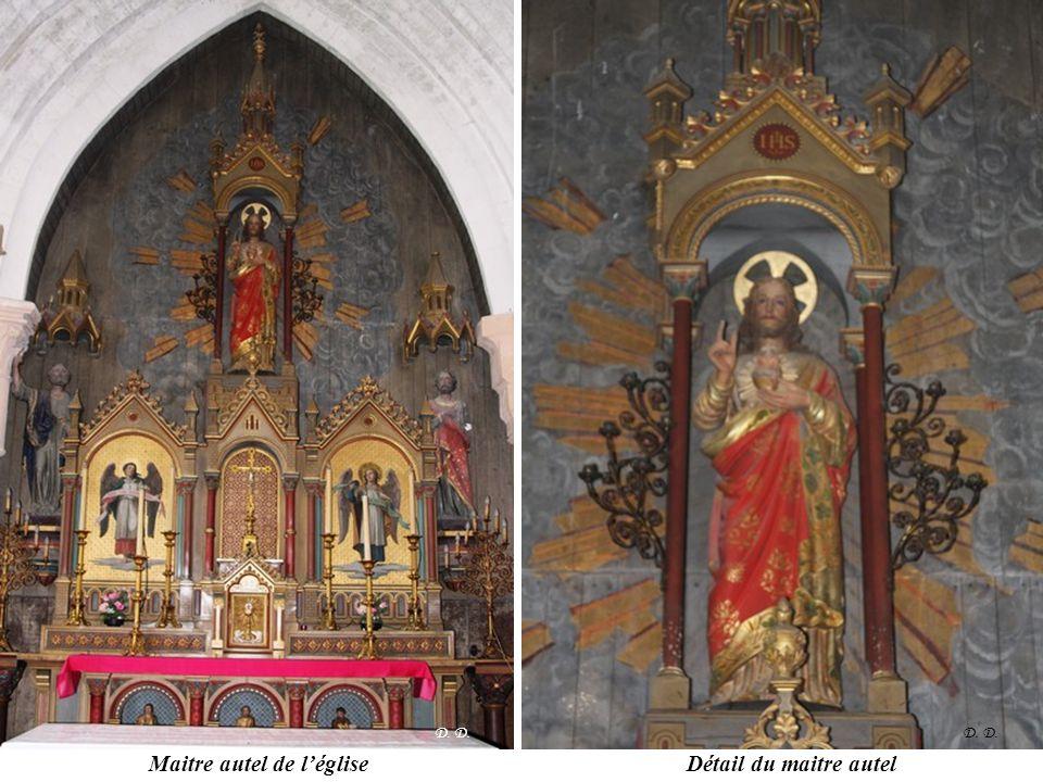 Maitre autel de l'église Détail du maitre autel