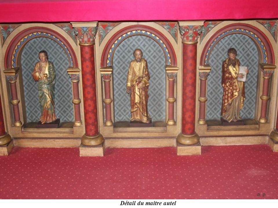 D. D. Détail du maitre autel