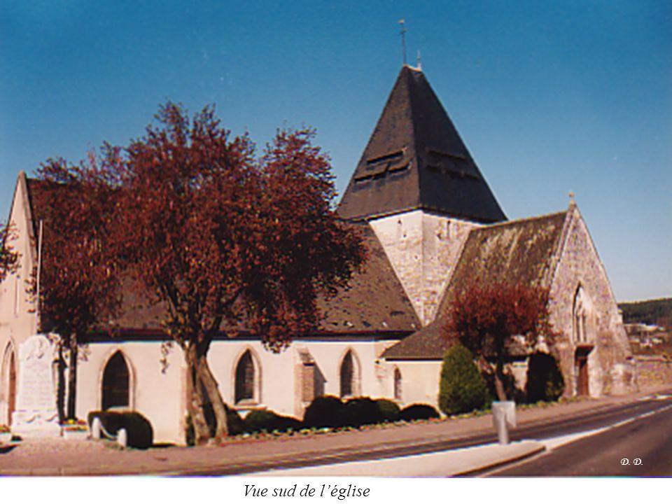 D. D. Vue sud de l'église