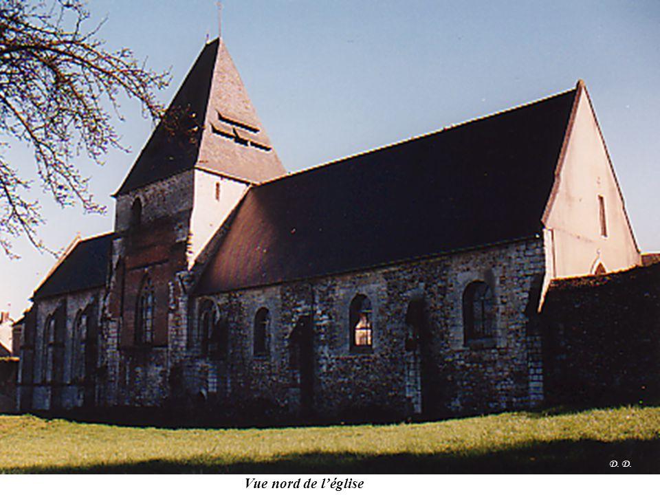D. D. Vue nord de l'église