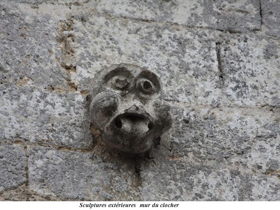 Sculptures extérieures mur du clocher