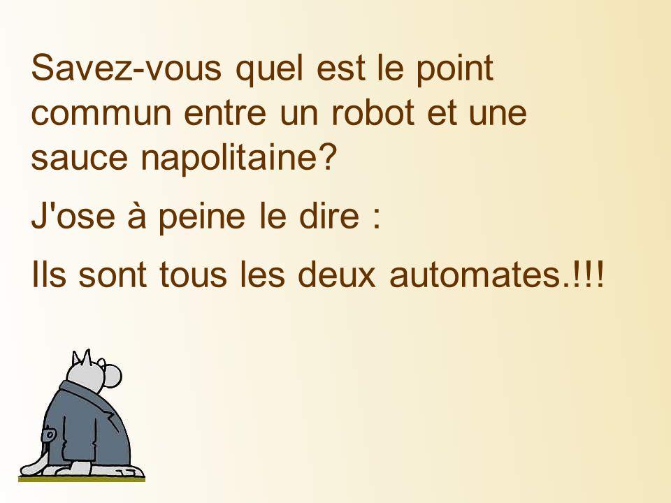 Savez-vous quel est le point commun entre un robot et une sauce napolitaine