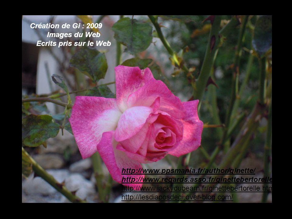 Création de Gi : 2009 Images du Web. Ecrits pris sur le Web. http://www.ppsmania.fr/author/ginette/