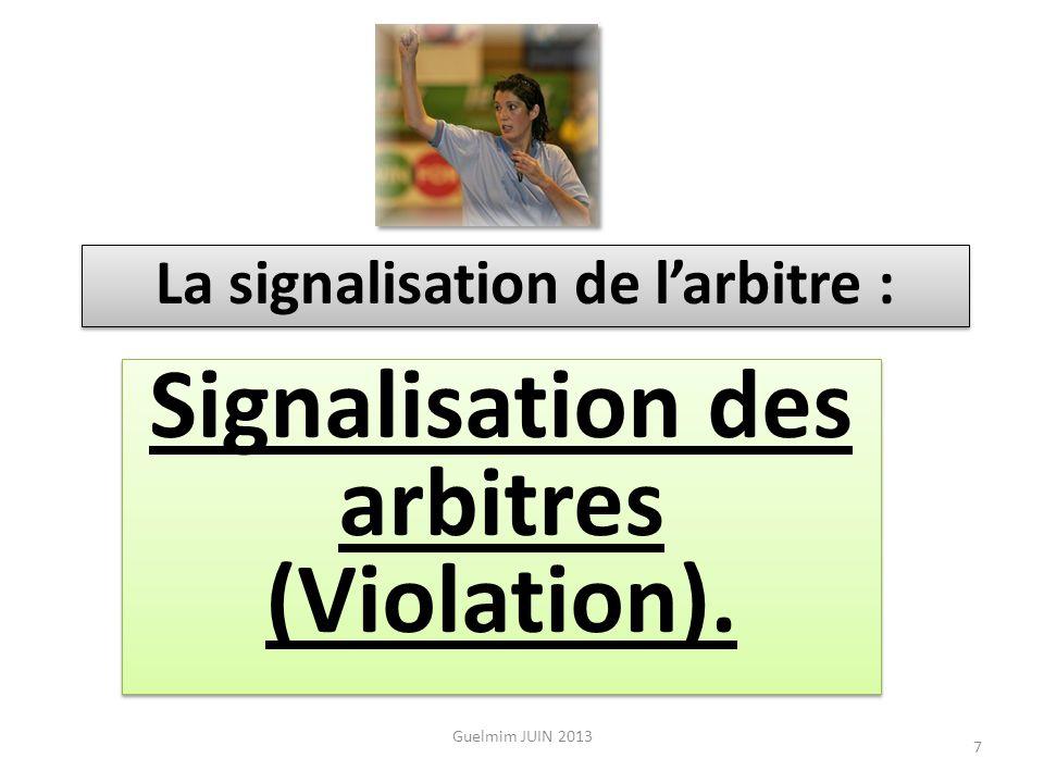 Signalisation des arbitres (Violation).