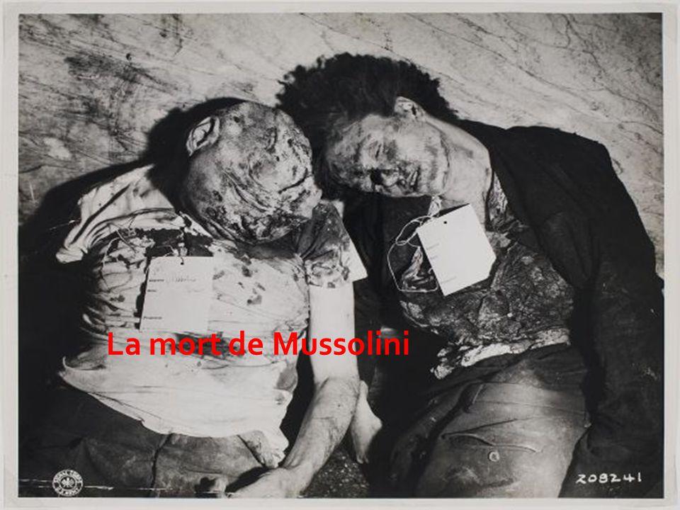 La mort de Mussolini
