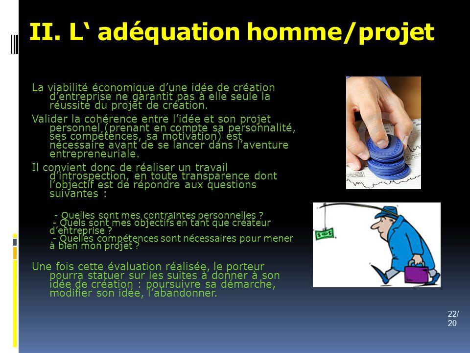 II. L' adéquation homme/projet
