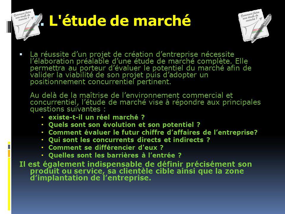III. L étude de marché