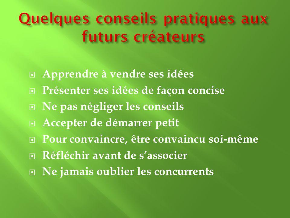 Quelques conseils pratiques aux futurs créateurs