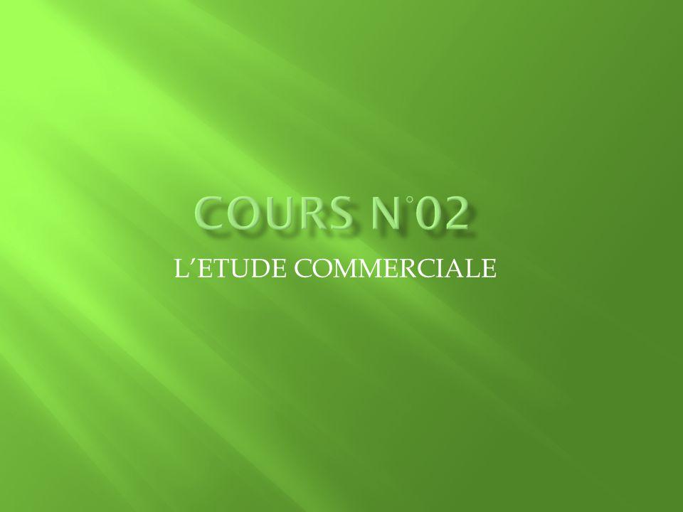 Cours n°02 L'ETUDE COMMERCIALE