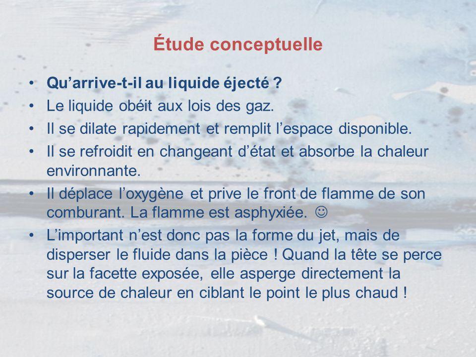 Étude conceptuelle Qu'arrive-t-il au liquide éjecté