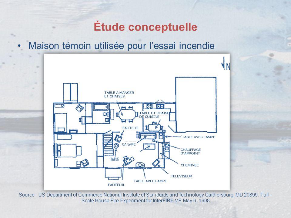 Étude conceptuelle Maison témoin utilisée pour l'essai incendie