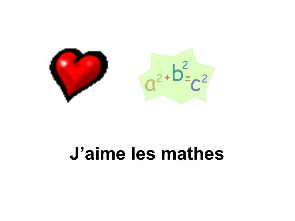 J'aime les mathes