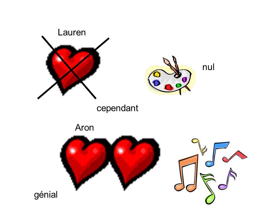 Lauren nul cependant Aron génial