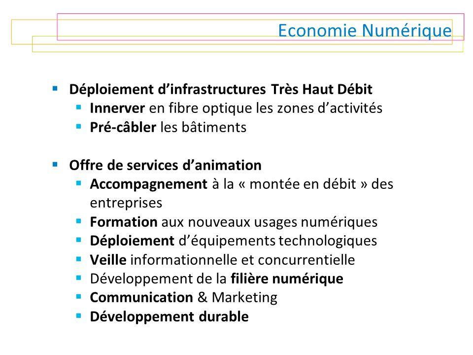 Economie Numérique Déploiement d'infrastructures Très Haut Débit