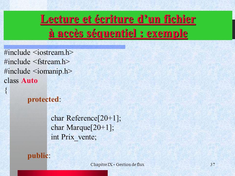 Lecture et écriture d'un fichier à accès séquentiel : exemple